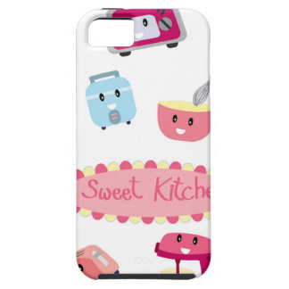Capa Para iPhone 5 Eletricidade cor-de-rosa doce da cozinha e ícone