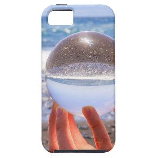 Capa Para iPhone 5 Entregue guardarar a esfera de vidro na praia e no