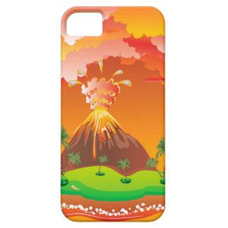 Capa Para iPhone 5 Erupção 2 do vulcão dos desenhos animados