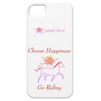 Capa Para iPhone 5 Escolha a felicidade - vá montar