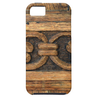 Capa Para iPhone 5 escultura de madeira do painel