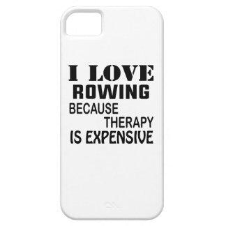 Capa Para iPhone 5 Eu amo enfileirar porque a terapia é cara