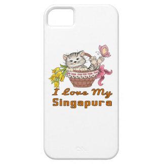 Capa Para iPhone 5 Eu amo meu Singapura