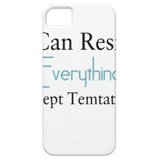 Capa Para iPhone 5 Eu posso resistir tudo exceto a tentação