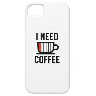 Capa Para iPhone 5 Eu preciso o café