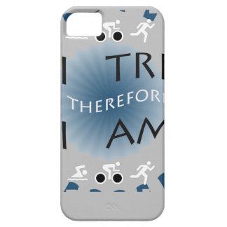 Capa Para iPhone 5 Eu tri conseqüentemente mim sou Triathlon