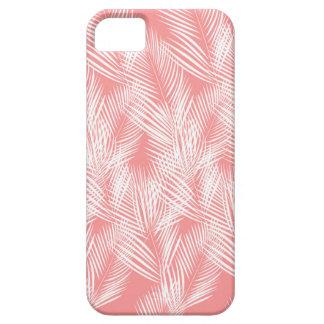 Capa Para iPhone 5 Exotico do branco do rosa das palmas do design
