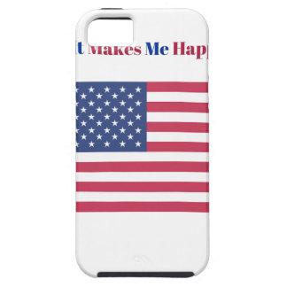 Capa Para iPhone 5 Faz-me a bandeira americana feliz