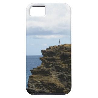 Capa Para iPhone 5 Figura solitário em um penhasco