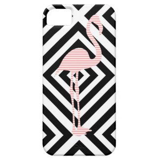 Capa Para iPhone 5 Flamingo - teste padrão geométrico abstrato - rosa
