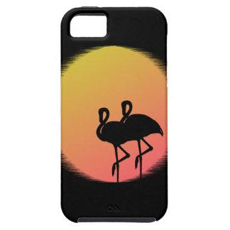 Capa Para iPhone 5 Flamingos do por do sol