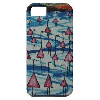 Capa Para iPhone 5 Flamingos no lago salgado
