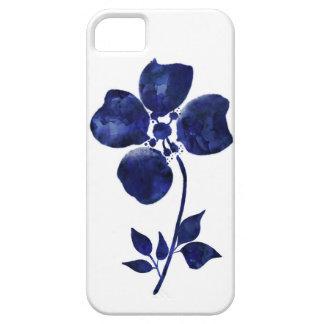 Capa Para iPhone 5 Flor azul