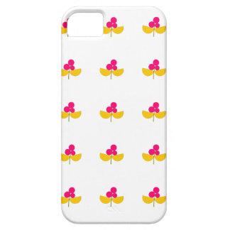 Capa Para iPhone 5 Flores amarelas e cor-de-rosa do vintage