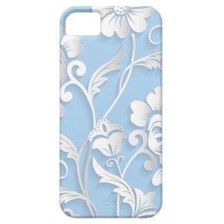 Capa Para iPhone 5 Flores brancas em azuis bebés