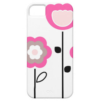 Capa Para iPhone 5 Flores decorativas no branco