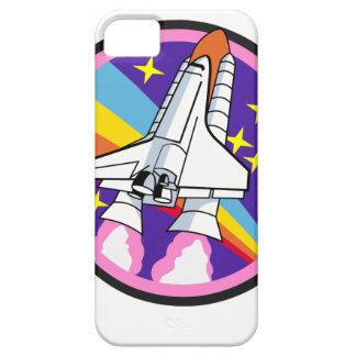 Capa Para iPhone 5 foguete do arco-íris do rosa do remendo do crachá