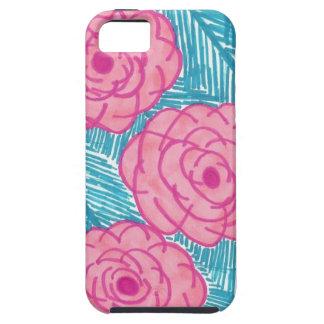 Capa Para iPhone 5 Folhas de palmeira e flores tropicais