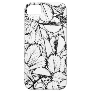 Capa Para iPhone 5 Folhas do branco