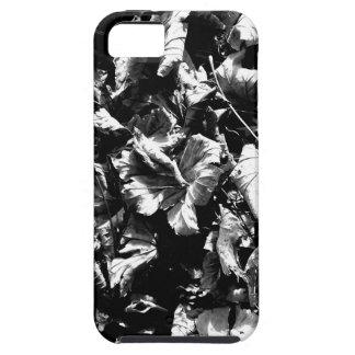 Capa Para iPhone 5 Folhas pretas & do branco
