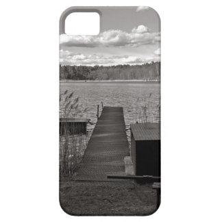 Capa Para iPhone 5 Forest Lake em Black and White