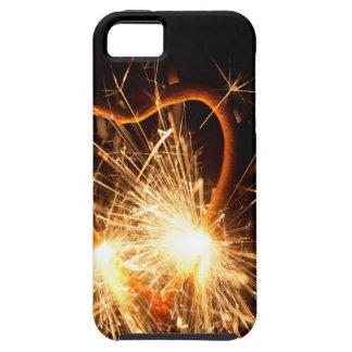 Capa Para iPhone 5 Foto macro de um sparkler ardente no formulário de