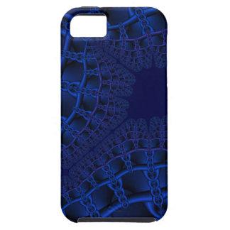 Capa Para iPhone 5 Fractal azul elétrico