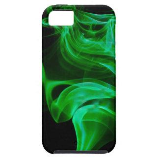 Capa Para iPhone 5 Fractal verde do cetim