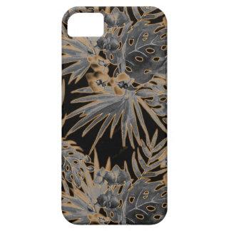 Capa Para iPhone 5 fulgor alaranjado tropical de teste padrão de flor