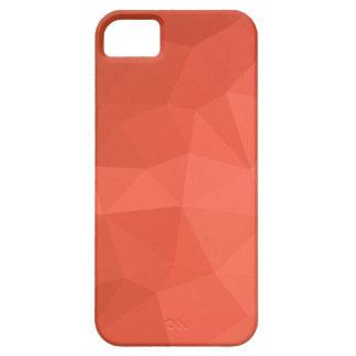 Capa Para iPhone 5 Fundo do polígono do abstrato claro dos salmões