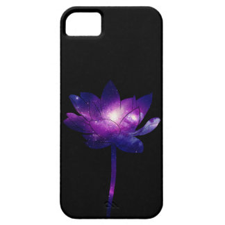 Capa Para iPhone 5 Galaxy Lotus Flower - black
