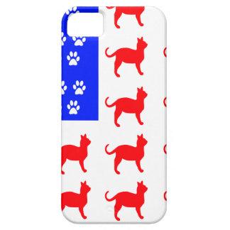 Capa Para iPhone 5 Gato + Bandeira da pata