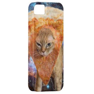 Capa Para iPhone 5 Gato da pizza no espaço que veste a fatia da pizza