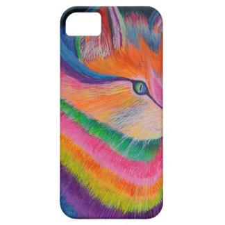 Capa Para iPhone 5 Gato do arco-íris