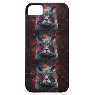 Capa Para iPhone 5 Gato do espaço que veste óculos de proteção na