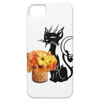 Capa Para iPhone 5 Gato preto do Dia das Bruxas e milho de doces