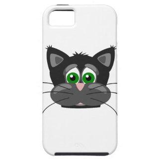 Capa Para iPhone 5 gato preto Verde-eyed