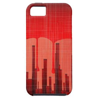 Capa Para iPhone 5 Grunge da cidade do sangue