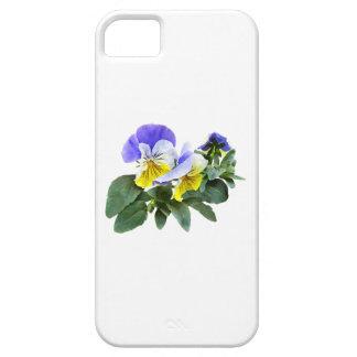 Capa Para iPhone 5 Grupo de Pansies amarelos e roxos