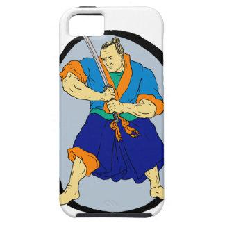 Capa Para iPhone 5 Guerreiro Katana Enso do samurai
