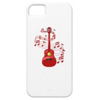 Capa Para iPhone 5 Guitarra acústica vermelha com notas da música
