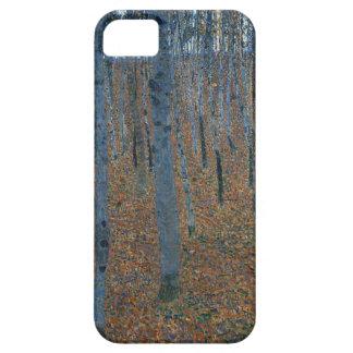 Capa Para iPhone 5 Gustavo Klimt - bosque da faia. Animais selvagens