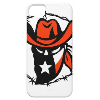 Capa Para iPhone 5 Ícone foragido do fio de Barb da bandeira de Texas