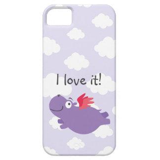 Capa Para iPhone 5 Ilustração do hipopótamo do vôo
