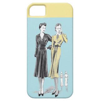 Capa Para iPhone 5 Impressão do desenhador de moda do vintage das