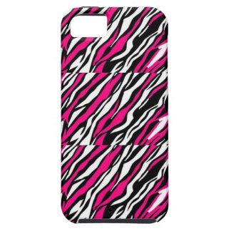 Capa Para iPhone 5 Iphone cor-de-rosa, preto & branco, caso de IPad