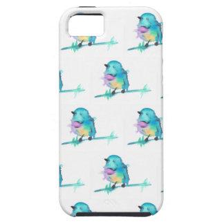 Capa Para iPhone 5 iPhone do pássaro do Watercolour/caixa galáxia de