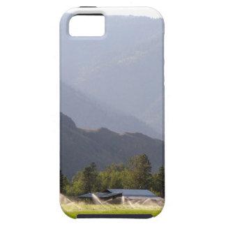 Capa Para iPhone 5 Irrigação do Hayfield nas montanhas de BC