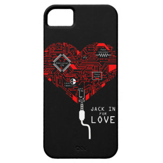 Capa Para iPhone 5 Jack dentro para o amor