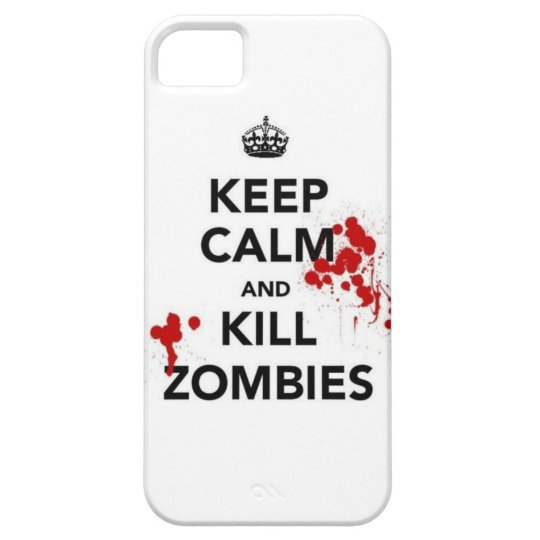 Capa Para iPhone 5 keep calm and kill zombies